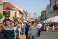 Student s holiday. This is the Korowod 2014 - student s holiday. May 6, 2014. Lublin, Poland Stock Images