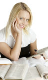 Student's portrait. Portrait of young blond student Stock Images