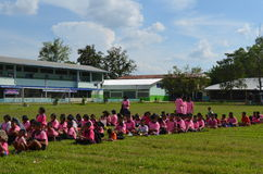Student. School at north province of thailand Royalty Free Stock Photo