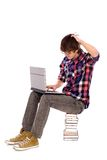 Student Scratching His Head Stock Photos