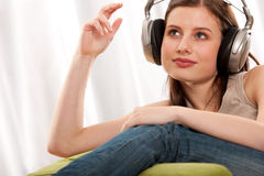 Student series - Beautiful brunette Stock Image