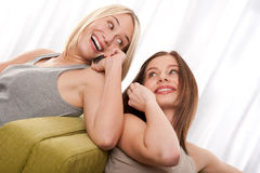 Student series - Two teenage girls Royalty Free Stock Image