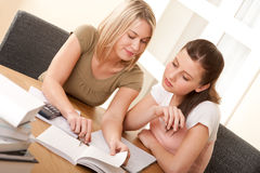 Student series - Two young students Stock Photo