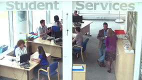 Student Services Department Of University Providing Advice stock video footage
