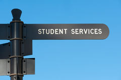Student services. Sign at San Diego State University Stock Image