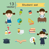 Student  set Royalty Free Stock Photos