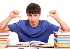 Student show Thumb Down Royalty Free Stock Image