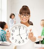Student showing clock Stock Images