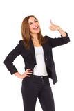 Student showing thumb up. Stock Image