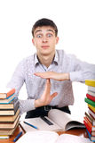 Student shows Time-out gesture Royalty Free Stock Photography