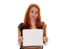 Student with sign Royalty Free Stock Image