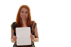 Student with sign Royalty Free Stock Photography