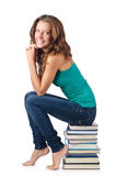 Student sitting Stock Image
