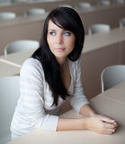 Student sitting in a classroo Royalty Free Stock Images