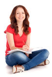 Student sitting and studying Royalty Free Stock Photo