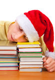 Student sleep on the Books Royalty Free Stock Photography