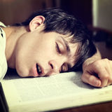 Student sleep Stock Image