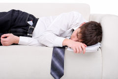 Student sleeping Royalty Free Stock Photo