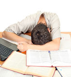 Student Sleeping Royalty Free Stock Photography