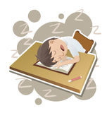 Student sleeping in classroom Royalty Free Stock Images