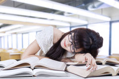 Student sleeping and dreaming in the class 1 Royalty Free Stock Photography