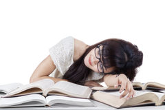 Student sleeping and dreaming in the class 2 Royalty Free Stock Image