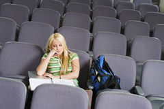 Student Sleeping In Lecture Room Royalty Free Stock Photography