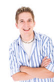 Student: Smiling College Guy Isolated On White Stock Image
