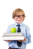 Student smiling with notebooks Stock Image