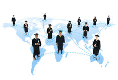 Student social network Graduation Community Concept Royalty Free Stock Image