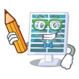 Student Solar-penels in der Karikaturform stock abbildung