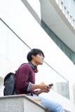 Student som utomhus vilar royaltyfria foton