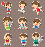 Student sport stickers Royalty Free Stock Photo