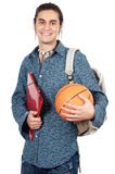 Student and sportsman. A over white background Royalty Free Stock Images