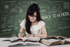 Student start to study in class 1 Stock Image
