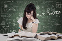 Student start to study in class Stock Images