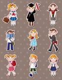 Student stickers Stock Photo