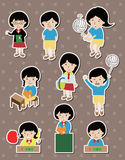 Student stickers Stock Photo