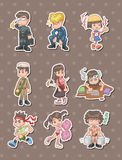 Student stickers Royalty Free Stock Image