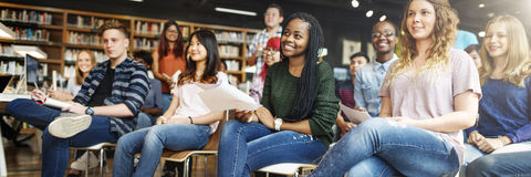 Student Study Classmate Classroom Lecture Concept Royalty Free Stock Images