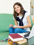 Student study at home Stock Images