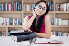 Student study at the library Royalty Free Stock Photo