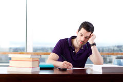 Student studying hard Royalty Free Stock Photography