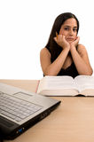 Student studying at home Royalty Free Stock Image