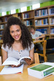Student studying in the library Stock Photos