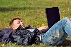 Student studying Royalty Free Stock Photo