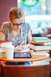 Student studying or preparing for exams Royalty Free Stock Images