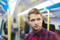 Student in subway Royalty Free Stock Image