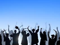 Student Success Learning Concep för berömutbildningsavläggande av examen Royaltyfri Bild