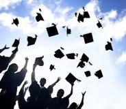 Student Success Learning Concep för berömutbildningsavläggande av examen Arkivfoto